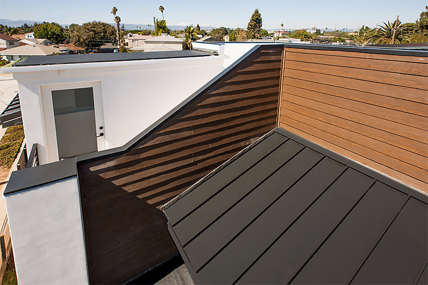 Standing Seam Metal Roof for New Construction in Mar Vista, West LA