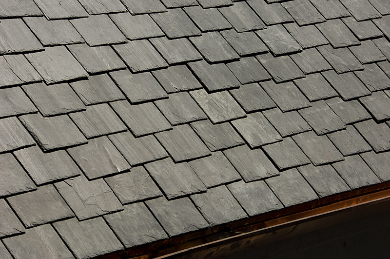 Detail of lightweight slate roof in Cheviot Hills